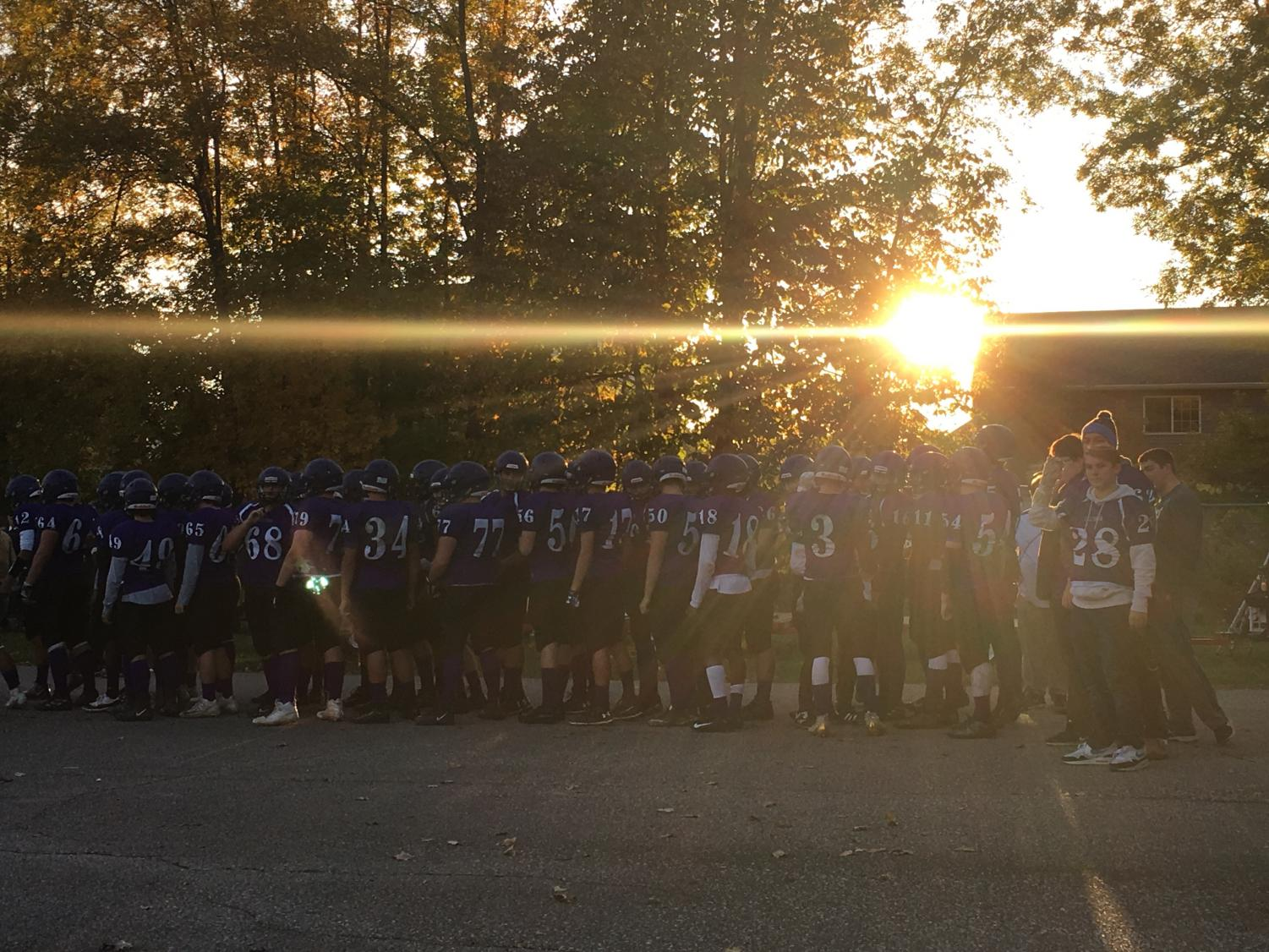 The Caledonia Fighting Scots are ready for their game.
