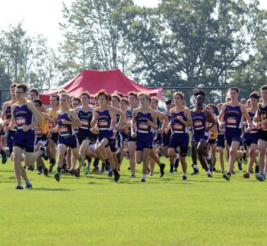 Boys+Cross+Country+team+compete+at+a+meet.+