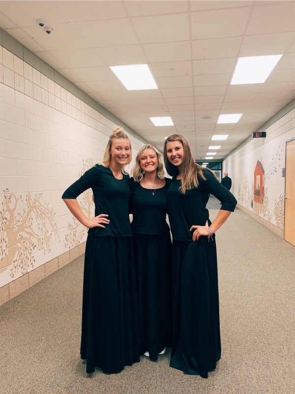 Alyssa+Hall%2C+Elizabeth+Reoch%2C+and+Isabella+LaFranca+show+their+joy+after+the+first+Orchestra+concert+of+the+year.+