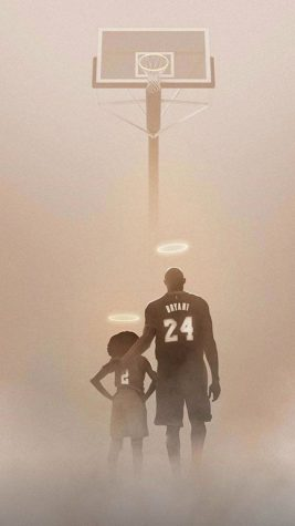 Artwork designed in memorial of Kobe and Gianna Bryant