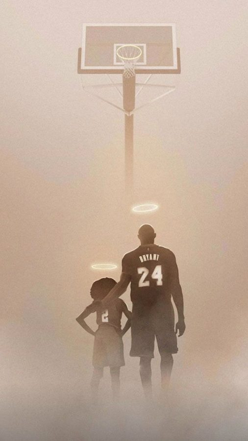 Artwork+designed+in+memorial+of+Kobe+and+Gianna+Bryant+