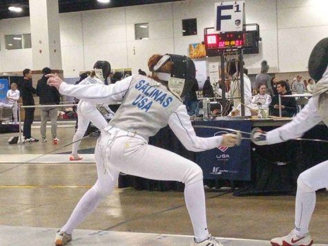 Jessica Salinas Fencing at Nationals
