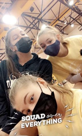 Avery and fellow CHS students masking up!